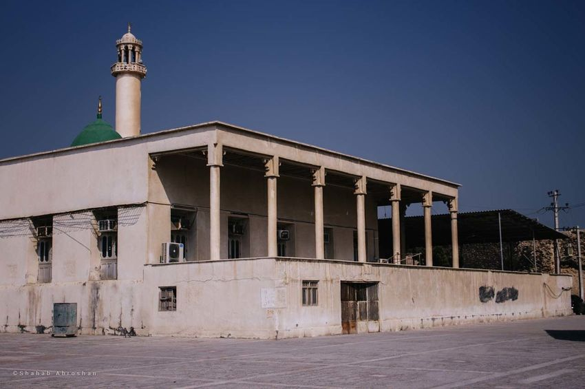 Old mosque in Laft Architecture Building Built Structure Clear Sky Day No People Sky Travel