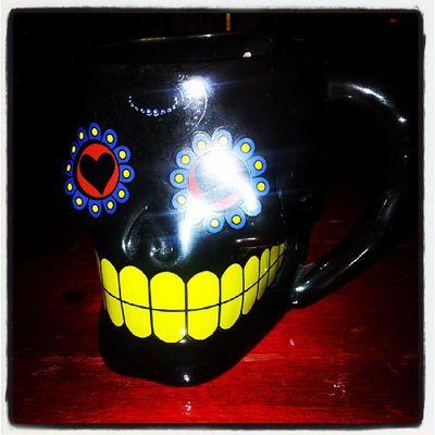 Kaffe i nykoppen... Candyskull  Kaffe Bittens