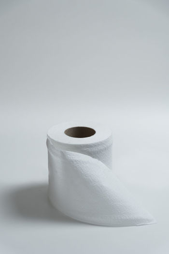 Tissue. Tissue Bathroom Clean Copy Space Facial Tissue Home Minimal Minimalism Paper Rolled Up Simplicity Single Object Still Life Studio Shot Tissue Paper Toilet Paper White White Background White Color