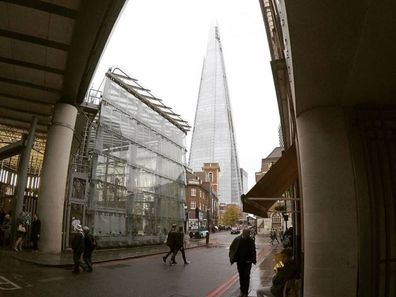 View of the Shard at Borough Market | London London Boroughmarket Theshard Goprohero4 Travel