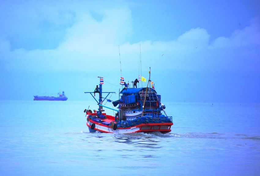 Nautical Vessel Transportation Mode Of Transportation Water Sea Sky Adventures In The City Nature Cloud - Sky Waterfront Sailing Ship Outdoors Scenics - Nature Beauty In Nature Fishing Industry