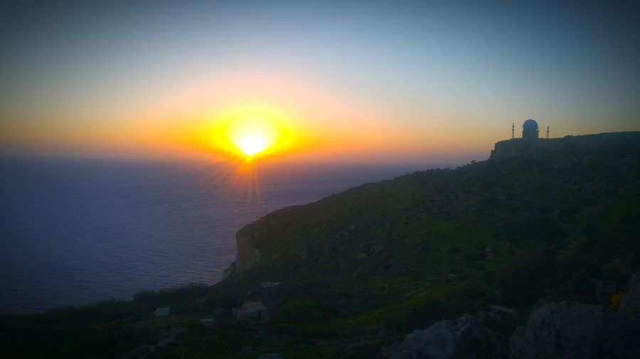 Sunset in Dingli Cliffs Water Sky Sun Outdoors Sunset Cliffs