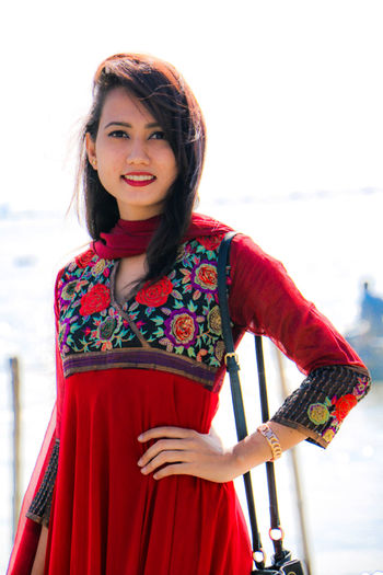 Cute !! Red Portrait Only Women Dress Adult One Person One Woman Only Adults Only Looking At Camera Cute People Fashion Outdoors Beautiful Woman Beautiful People Winter The Portraitist - 2017 EyeEm Awards The Great Outdoors - 2017 EyeEm Awards Red Lipstick Lady In Red Standing Smiling Beach Young Adult Beauty The Week On EyeEm EyeEmNewHere Paint The Town Yellow Been There. Done That. Lost In The Landscape Second Acts