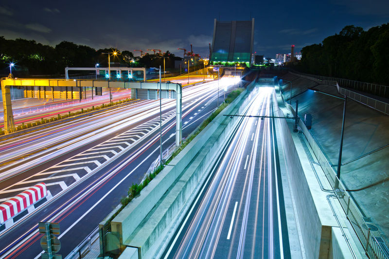 Long Exposure Motion Illuminated Speed City Transportation Architecture Light Trail Night Blurred Motion Built Structure Building Exterior Road Sky City Life No People Street High Angle View Traffic Mode Of Transportation Outdoors Light Tokyo Tokyo Night Longexposure Longexposurephotography Highway Highwayphotography Tunnel Japan Japan Photography Pentax