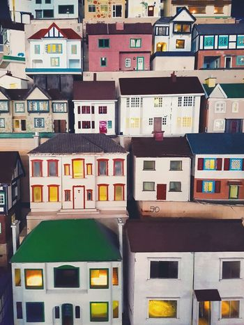 Home Colours Rows Of Houses Wooden Houses Minature Taking Photos Variation Multi Colored No People Full Frame Building Exterior
