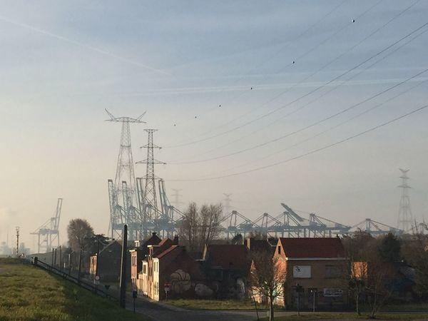 Doel België Belgium Suburban Landscape Suburb