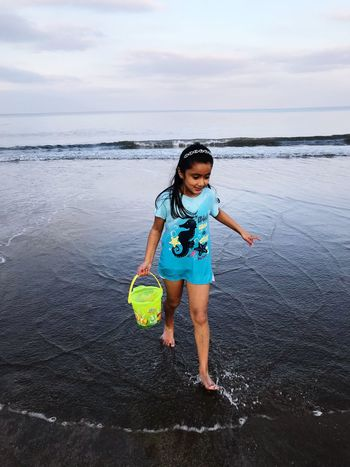 Sea One Person Water Sky Real People Beach Horizon Over Water Leisure Activity Outdoors Smiling Lifestyles Full Length Cloud - Sky Childhood Standing Happiness Day Nature Looking At Camera Portrait Amelia Miah