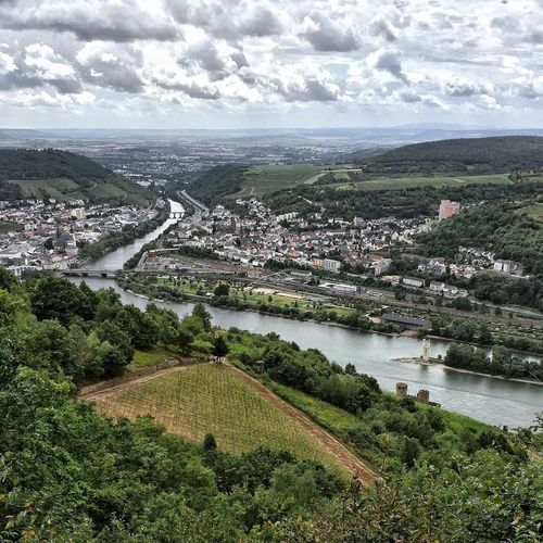 A Bird's Eye View Germany Deutschland Rheingau Traveling City Weekend Getaway View Sightseeing Enjoying The View Travel View From Above View From The Top Travel Photography Rhine Rhein Hessen Wineyard Clouds And Sky