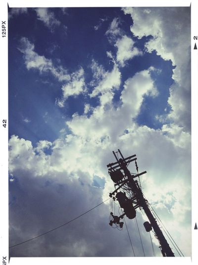 Cloud And Sky Kyoto Power Lines