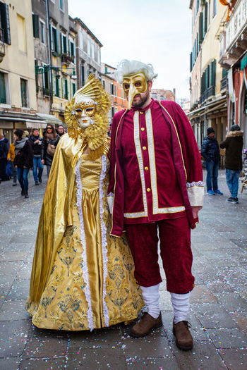 Carnival Carnivale In Venice Adult Adults Only Architecture Building Exterior Built Structure Carnival Costumes City Day Full Length Large Group Of People Lifestyles Men Outdoors People Real People Standing Street Walking