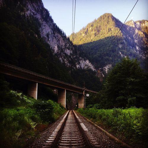 Railway In Austria Nature Mountains