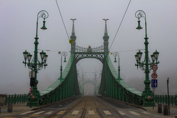 Victorian Architecture Bridge Budapest Budapest, Hungary Capital City Fog Disappear Mystical Magical Mystical Atmosphere Vanish Lantern Connection The Way Forward Diminishing Perspective Szabadság Híd Green Color Mist Barely Visible Mystery Scary Fairy Tale Travel Destinations Nature River