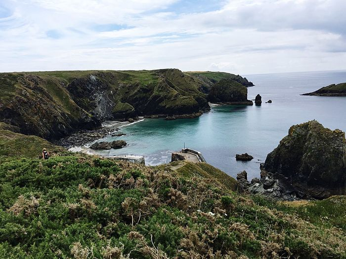 Check This Out Mullion Cove Cornwall Harbour Sea Island off the coast at Mullion where Birds can breed Beautiful Scenery