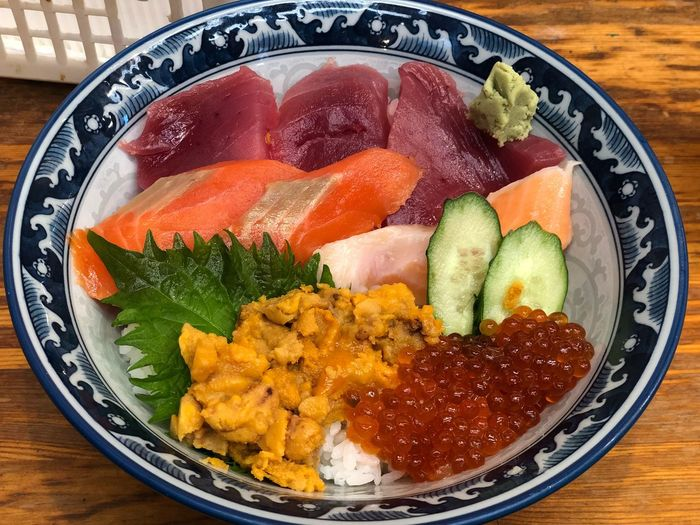 Raw fish with