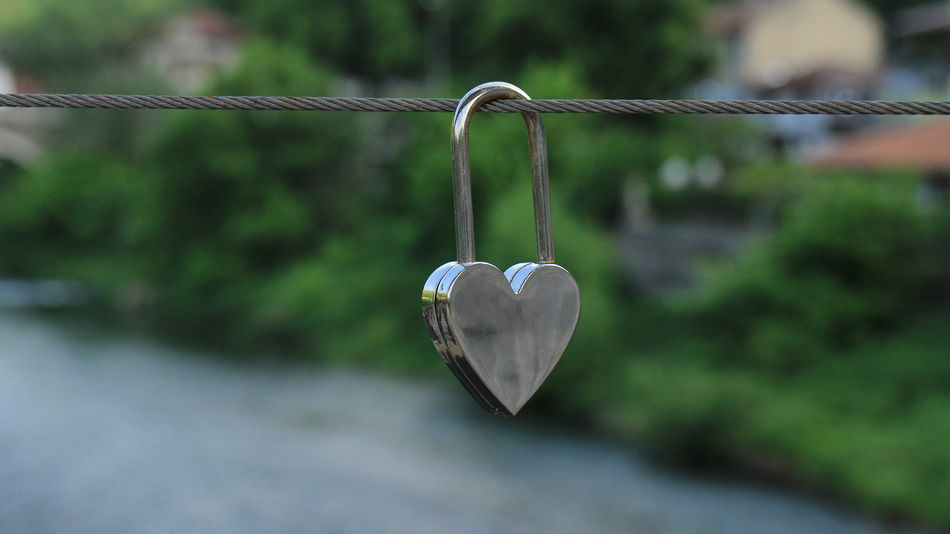 Close-up Day Focus On Foreground Hanging Heart Shape Locket Love Love Lock Metal No People Outdoors Padlock Padlock's Bridge Padlocks Padlocks, Lovers Locks, Promises, True Love, Romance