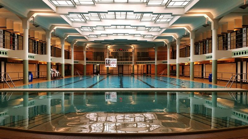 Swimming Zwembad Relaxing Interior Water A Fresh Week Begins Gent Belgium First Eyeem Photo