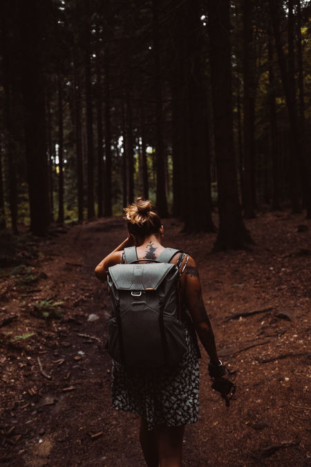 Just explore! Forest Lifestyles Nature Outdoors Petrklempa Real People Walking Young Women