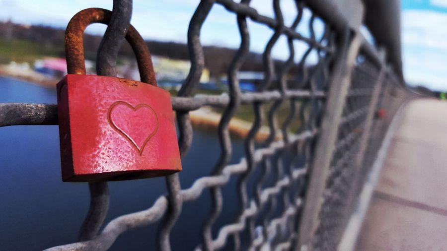Lovelock.. Bridge on The Danube.. Vienna First Eyeem Photo Danube River Bridge On Danube