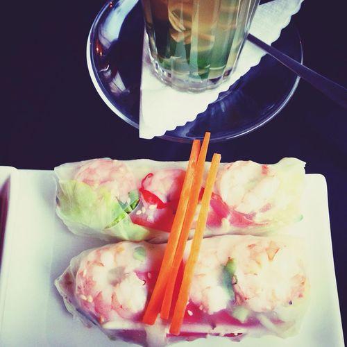 Spring Rolls Vietnamese Minimalism Foodgasm