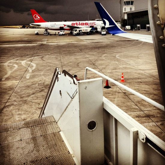Airport Airplane Airport Runway Cyprus Sky Kıbrıs Ercanairport Ercanhavalimani Thy Turkhavayollari