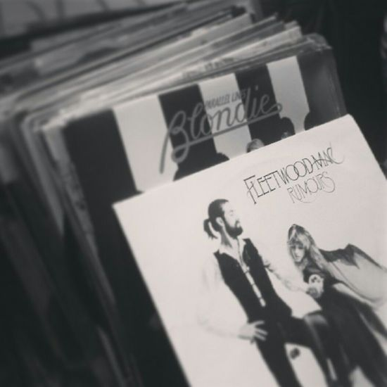 Close-up Black And White Vinyl Records Blondie Fleetwoodmac Records Rumours Music EyeEmNewHere