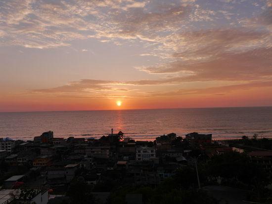 Montañita,Ecuador Sunset Horizon Over Water Sea Beach Outdoors Sky Vacations