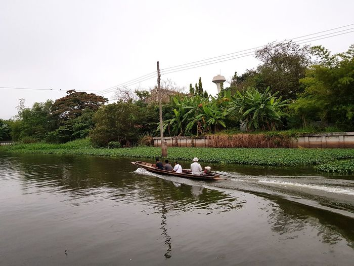 river live River View Canals And Waterways Boat Sailing Boat เรือหางยาว Water Nautical Vessel Sky Floating On Water Water Vehicle