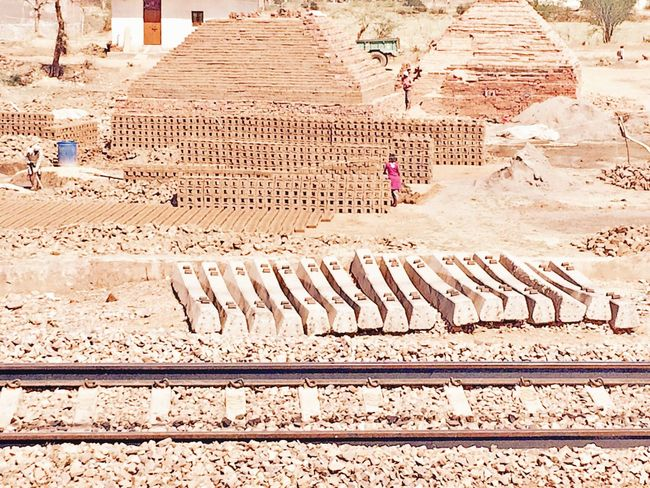 Railway Track High Angle View Built Structure Architecture Outdoors Day Building Exterior RuralIndia IPhoneography