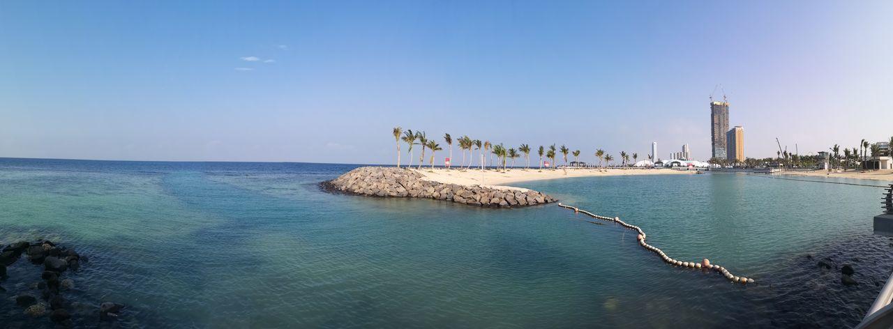 Jeddah Saudi Arabia Jeddah Jeddah City Jeddah Beach Water Sea Beach City Blue Summer Sky Horizon Over Water