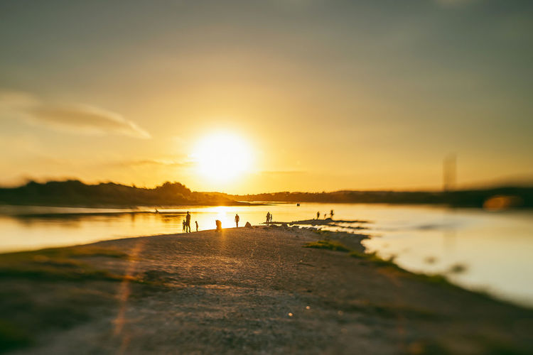 Sunset City Confluence Park Beach Beauty In Nature Confulance Evening Incidental People Lake Land Nature Nemunas Neris Nikonphotography Orange Color Outdoors Park People Reflection River Scenics - Nature Silhouette Sky Summer Sun Sunlight Sunset Tranquil Scene Tranquility Waling Around Water