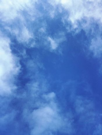 Sky Low Angle View Cloud - Sky Beauty In Nature Nature Blue White Clouds Backgrounds Sky Only No People Day Full Frame Scenics Outdoors Tranquility No Effects Made With IPhone 7