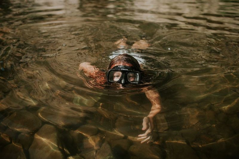 Water Swimming Rippled High Angle View One Person Lake Waterfront Young Adult Underwater Outdoors Portrait Day Headshot Nature Young Women One Woman Only UnderSea Adults Only Adult People