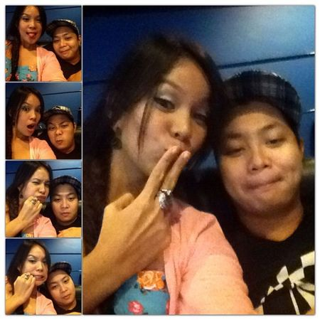 Goofing around while waiting for Taken2 to start...yaaayyy