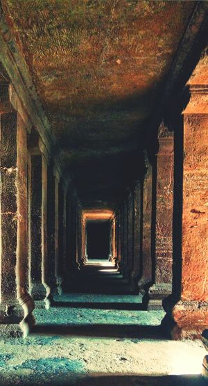Indoors  Sunlight The Way Forward Architecture No People Passageway Built Structure Day Travel Destinations Outdoors Architecture Full Length Sculpture Ellora_caves Arch Beauty In Nature Landscape_photography Triumphal Arch Ajantha Caves EyeEmNewHere The Great Outdoors - 2017 EyeEm Awards