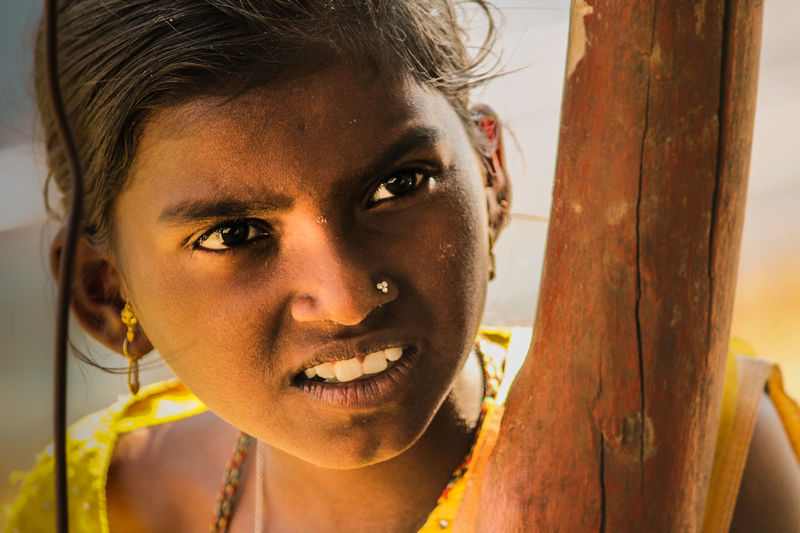 Portrait Child Looking At Camera Loneliness Human Face Close-up Human Body Part Girls Depression - Sadness Females People One Person Adult Human Eye Outdoors Day Canonphotography Canon700D Eyeemphotography EyeEm Best Shots Canon_official Anjaneri Anjaneri Mountains Real People Cultures