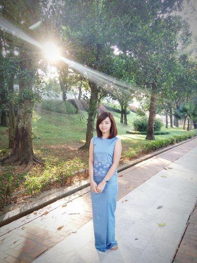 Portrait My Birthday Shwedagon Pagoda Yangon, Myanmar Burmese Burmesestyle Ootd Lotd Blue