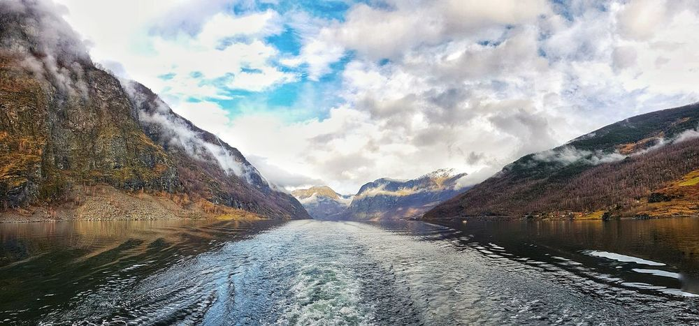 Fjordlove. Norway in a nutshell Tour Fjords Fjordsofnorway NorwayTourism Norway In A Nutshell Norway Norway Nature Cloud - Sky Sky Mountain Day Outdoors Mountain Range Nature No People Landscape Water Snow