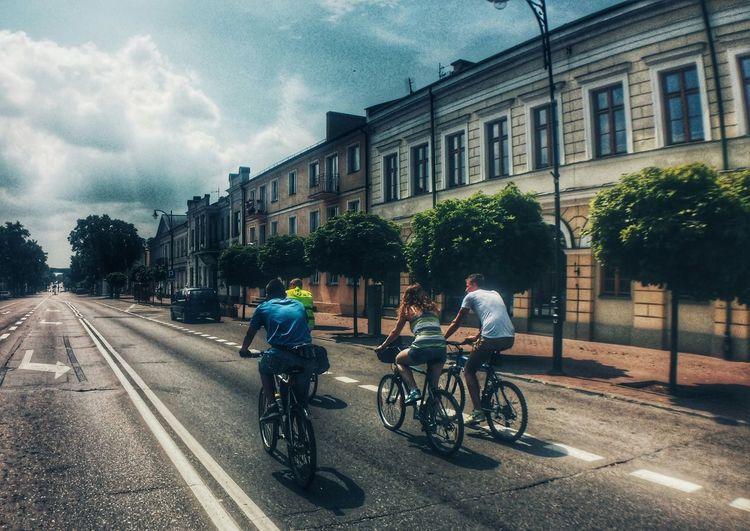 Friends.. Why We would be friends. People Cycling Bike Suwałki Street Trip Journey Happy People Poland