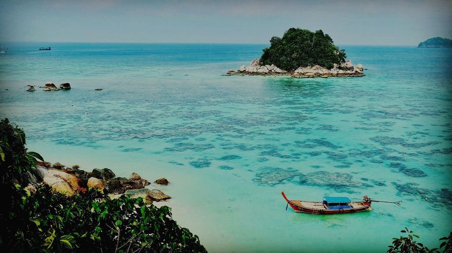 Sea Water Lipe Island Satun_Thailand Beauty In Nature Scenics Nature Horizon Over Water Tranquility Tranquil Scene Outdoors Day Sky Beach No People Sunny