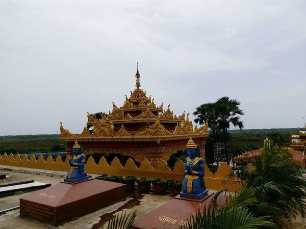 Natural Beauty Nature Buddhism Culture Ornate Design Buddhism Temple Famous Landmarks India_clicks Pagoda International Landmark Travel Photography Buddhism Peaceful Place Statue Famous Places Best Class Ever  Naturephotography Sky