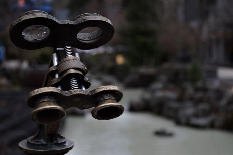Close-up of binoculars outdoor