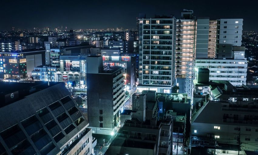 Tokyo, Japan, 2017. 6435 https://instagram.com/p/Bg_QMHYHUp_/ EyeEm Best Shots Japan Photography Building Exterior Architecture City Built Structure Cityscape Building Illuminated Night High Angle View City Life