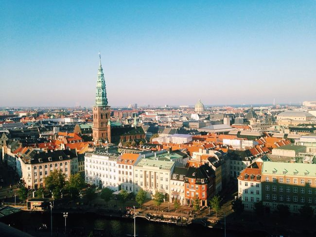 View From Above Skyline City Cityscapes Urban Landscape Rooftop Copenhagen Denmark From The Rooftop