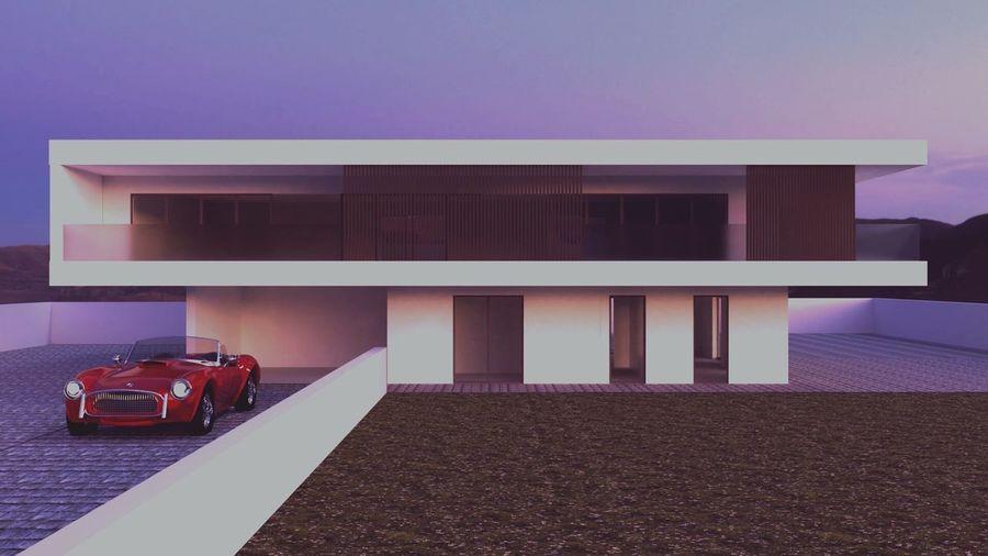 Blender3d 3D 3dmodeling 3d Rendering Modern Modern Architecture Modern House Car Redcar Visualization Hdri Texture F4F Folowme Like4like L4l Montains    White Glass Windows Relax Rendering Blender 3d Wall Floor Followme Follow Garden Sky Building