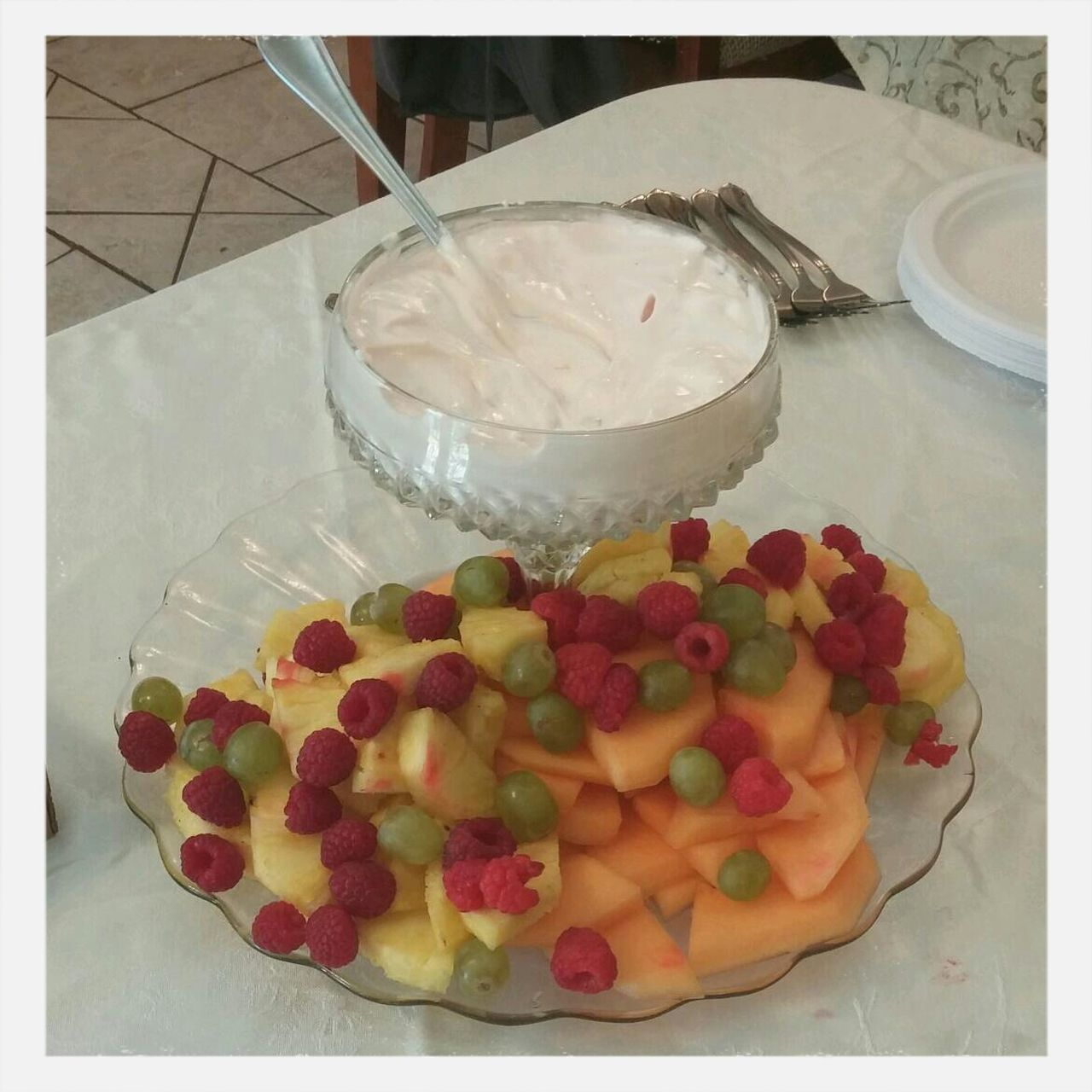 Close-Up Of Fruit Salad In Plate