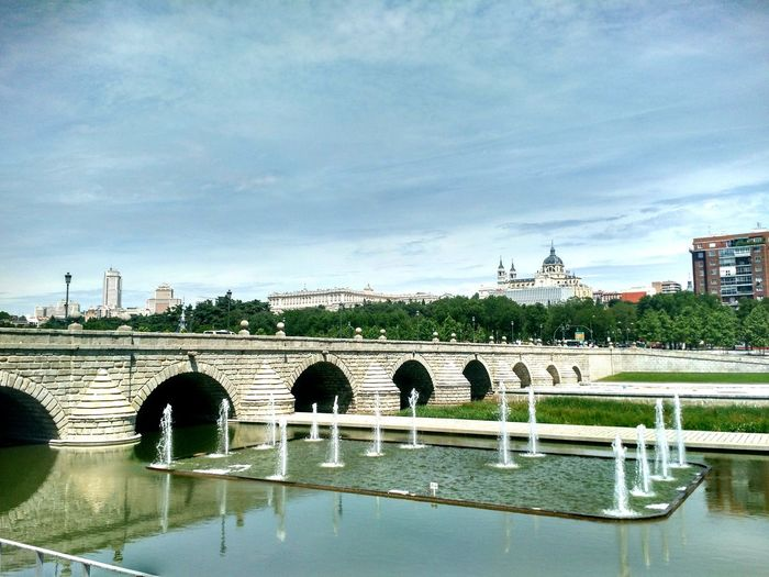 Madrid rio River Manzanares Madrid Madrid Río SPAIN Bridge Almudena Cathedral City Water Bridge - Man Made Structure Sky Architecture Built Structure EyeEmNewHere