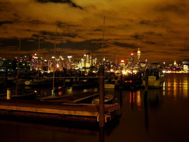 NYC Night Lights Nyc's View From Hoboken The Purist (no Edit, No Filter) Great Views Goodnight EyeEm Best Shots Amazing Cities At Night City Night Illuminated Cloud - Sky No People Harbor Cityscape