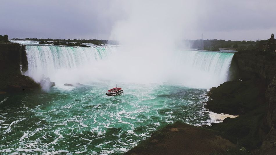 Niagara Falls ♤♡ Canada Niagara Falls Canada Nature's Beauty BIG Nice Day Coast To Coast Water Water Waterfall Adventure Sky Rapid Flowing Water