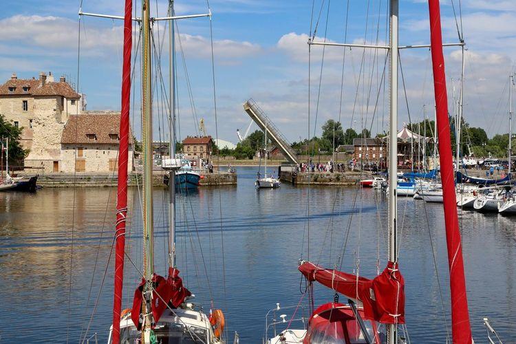Honfleur Normandie France Summer Summertime Boat Sky