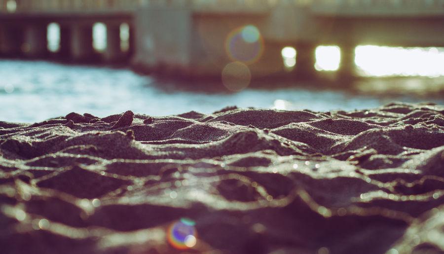 Surface level of sea shore